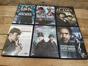 X6 Sherlock Homes DVD Movie Lot Sherlock Holmes Collection