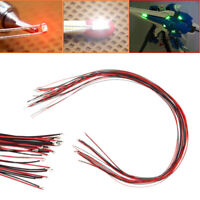 10 Stück 0402 vorgelötete Micro Litz Verdrahtete Leads Rot SMD Led Lampe 200mm