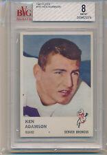 1961 Fleer Football Ken Adamson (#151) BVG8 BVG