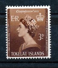 TOKELAU 1953 CORONATION SG4 BLOCK OF 4 MNH