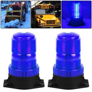 2PCS Blue 30 LED Flashing Warning Strobe Light Emergency Recovery Beacon 12V-24V