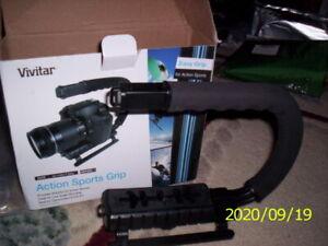 Vivitar Action Sports Grip Mount Stabilizing Bracket For Canon Vixia HF M50