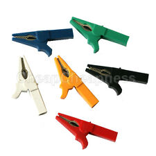 Multicolor Alligator Clip For Banana Plug Test Cable Probes Insulate Clamp Dr