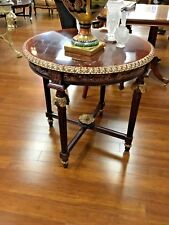 French Style Table Hand Carved With Gold Leaf Accents