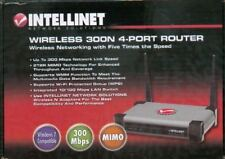 Intellinet Wireless 300N 4-Port Router - 300Mbps, MIMO, QoS, 4-Port 10/100 Mbps
