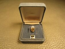 Anson Oval Yellow Gold Plated Tie Tac or Lapel Pin