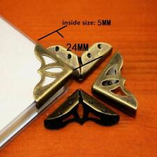 Bronze Tone Book Scrapbooking Albums 5mm,6Pcs Books,24*24*5mm,Fit For Corners