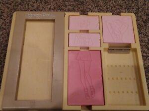 Vintage TOMY Fashion Plates Toy Set - double sided plates 1978  (Barbie like)
