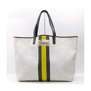 Gucci Hand Bag big capacity Whites PVC 1418937