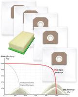 5 x Staubsaugerbeutel / dust bags + Filter für Karcher NT 45/1, 55/1, 561