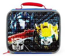 TRANSFORMERS OPTIMUS PRIME &BUMBLEBEE Lead Safe Insulated Lunch Tote Box Bag $20