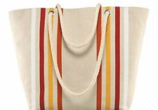 Lancôme Cotton Canvas IVORY w/ Strips Tote Bag Brand New Approximate Size19x13x4