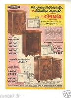 Publicité 1959 - Machine à coudre OMNIA et meuble - Manufrance