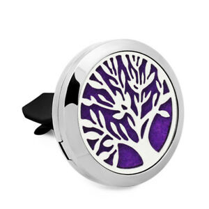 Stainless Car Vent Clip Diffuser Essential Oil Air Freshener Aromatherapy Locket