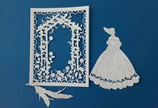 DIE Cut Tattered Lace Paese Manor VICTORIAN LADY SARAH e giardino Card Topper