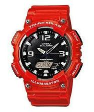 CASIO AQ-S810WC-4A TOUGH SOLAR RED WATCH FOR MEN - COD + FREE SHIPPING