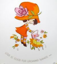 """Mopsie """"Love is Good for Growing Things"""" 1973 Collector's Edition Plate B"""