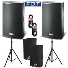 "2 x FBT X-Lite 10A Active 2000W 10"" Powered Speakers Package DJ Disco PA System"