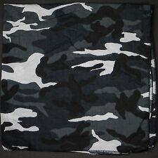 Grey Camo Bandana Towel Scarf Camouflage Army Cotton Military NEW 21''x21''