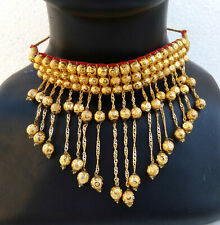 South Indian Jewelry Necklace Earrings Chocker Ethnic Gold Plated Choker Set P13