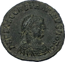 CONSTANTINE II Jr 321AD Heraclea Authentic Ancient Roman Coin JUPITER i65797