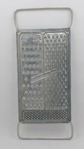 Vintage All In One Hand Held Metal Cheese Grater Shredder Kitchen Tool Decor