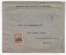 Costa Rica Official Cover To USA 1902 RARE JBP