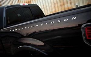 PAIR CHROME Truck Bed Side Letter Emblem Fits Ford F150 Harley Davidson Edition