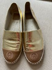 Tory Burch Espadrille Size 10-Gold