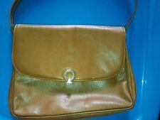 POURCHET vintage Brown leather handbag Made in France Paris Purse Bag