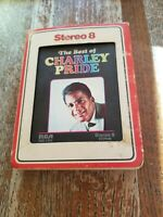 Charley PRIDE BEST OF PLAY TESTED VG++ SOUNDS GREAT 8 TRACK TAPE w/ SLIPCASE