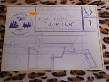 Lot de 4 plans de voiliers POUCHOUNET - Modèles réduits, maquettes bateau