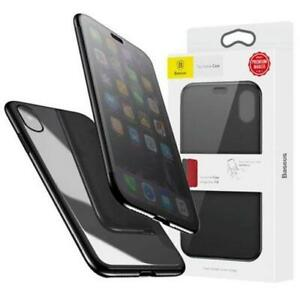 Baseus Touchable Case - Black for iPhone X/XS 5.8 inch Slim Folio Protection She