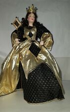 Queen of Diamonds Doll Franklin Mint Playing Cards Royality Collection