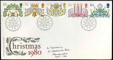 GB FDC de Noël 1980, philatlelic bureau H/S #C32405