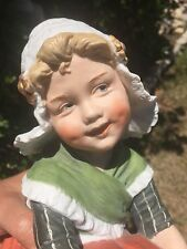 RARE Large Size Gebruder Heubach Dutch Girl all Bisque Antique Figurine Doll
