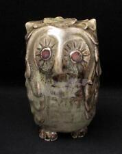 AUSTRALIAN POTTERY SIGNED CYNTHIA MITCHELL TASMANIA OWL FIGURE OCARINA WHISTLE 1