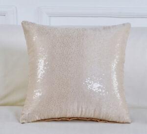 16'' Pillow Cover Glitter Shining Case Waist Throw Sofa Car Cushion Decoration
