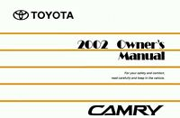 2002 Toyota Camry Owners Manual User Guide Reference Operator Book Fuses Fluids