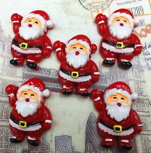 DIY 4-20pcs Christmas Old Man Flatback Resin Cabochon Scrapbooking/Crafts