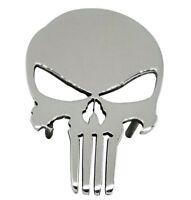 """4"""" Car Grille Badge Emblem Billet The Punisher Logo Aluminum High luster Truck"""