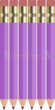 36 Lilac-purple Mini short Half Hexagon #2 pencil Eraser ExpressPencilTm