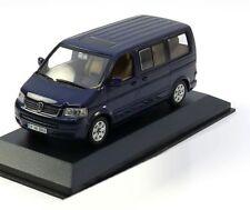 VERY RARE VW T5 7H TDI 2003 MULTIVAN SHADOW BLUE 1:43 MINICHAMPS (DEALER MODEL)