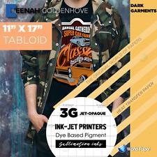 3g Jet Opaque Heat Transfer Paper 11x17 5 Sheets Dark T Shirts For Heat Press