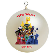 Personalized Sesame Street Christmas Ornament Add Name