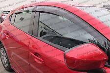 Premium Weather Shields Weathershields Window Visors for Mazda 3 13-17 (T)