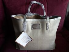 Michael Kors Tasche/ Shopper/ Tote Bag/ Canvas Silber-gold glitzernd Neu!