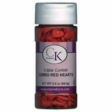 Jumbo Red Heart Edible Confetti Sprinkles 2.4 oz from CK #11103