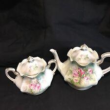 RS Prussia Teapot And Sugar Bowl antique porcelain, Tea Set, Roses