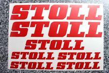 STOLL Aufkleber für Frontlader, Schlepper, Landmaschinen, Traktor